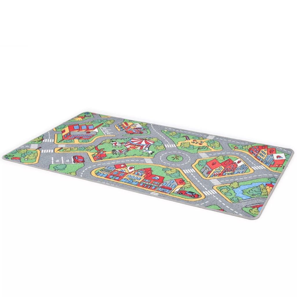 Hrací koberec se smyčkovým vlasem - vzor Městská silnice | 80x120