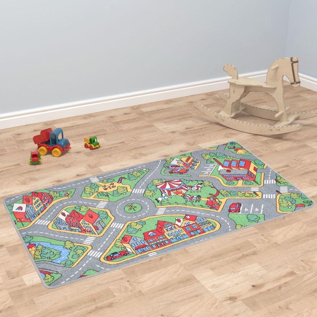 Hrací koberec se smyčkovým vlasem - vzor Městská silnice   120x160