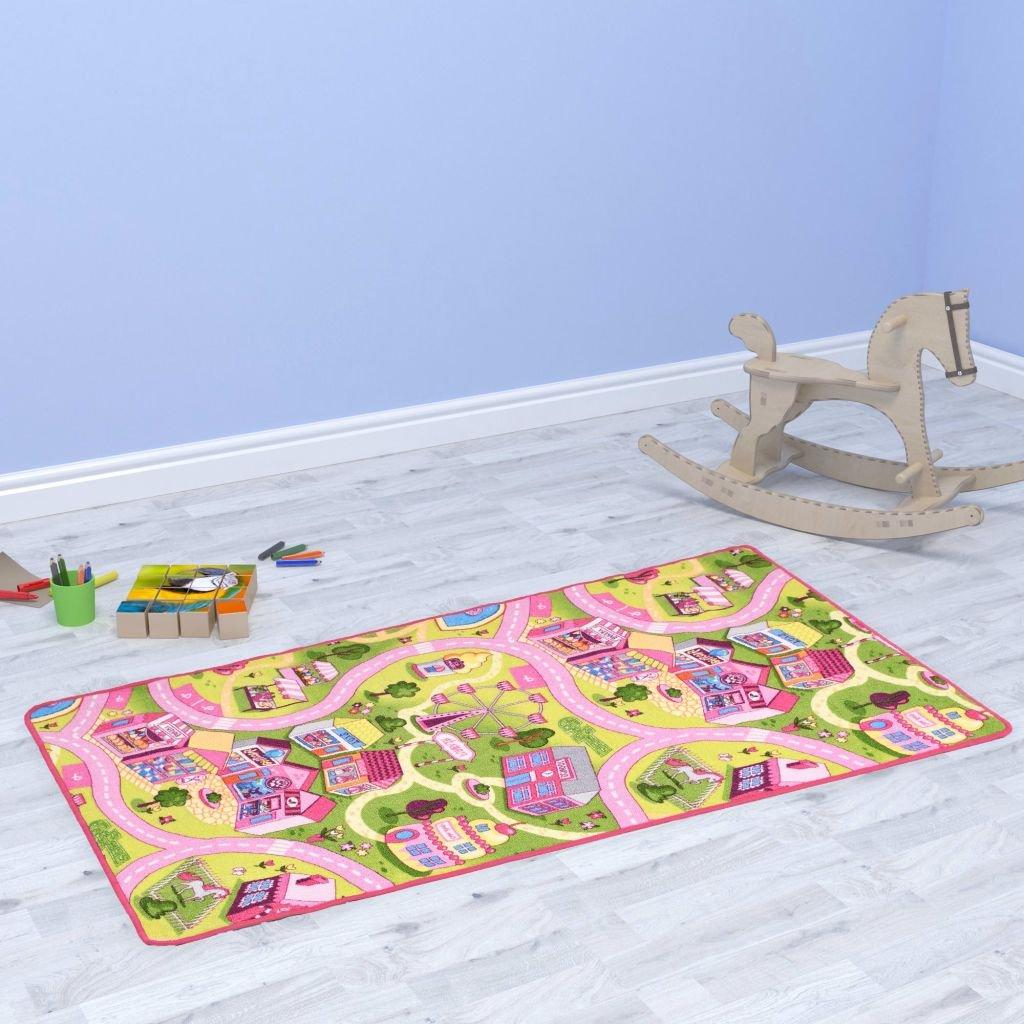 Hrací koberec se smyčkovým vlasem - vzor Sladké městečko | 100x165