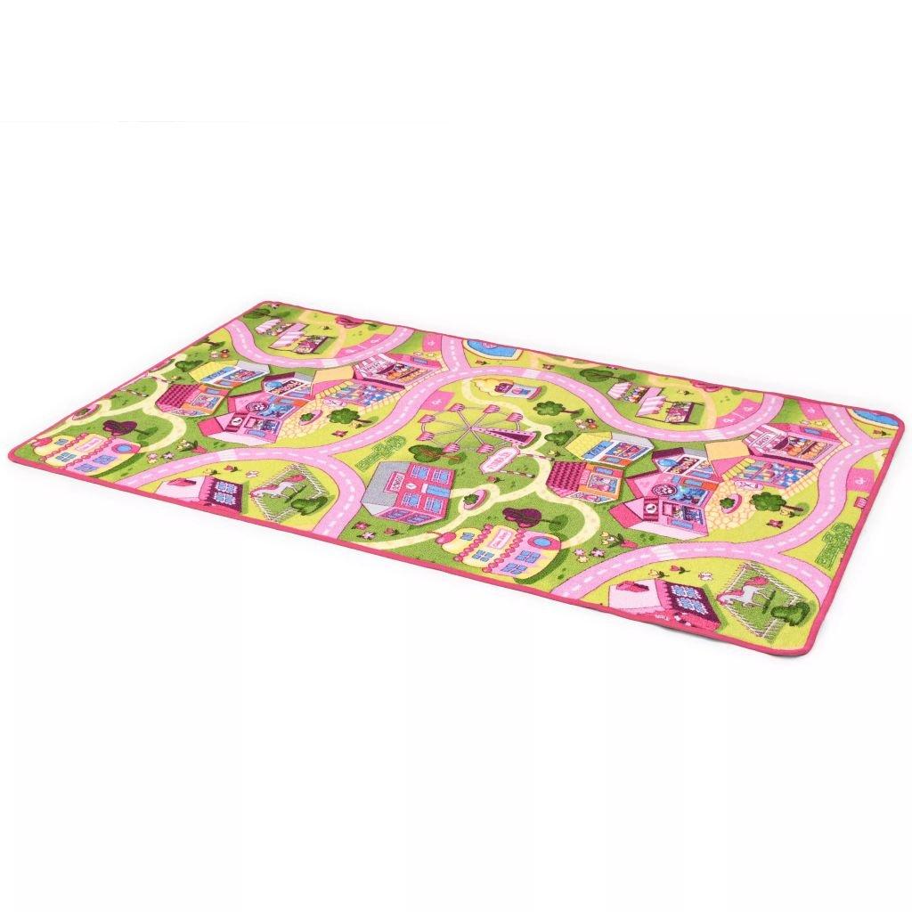 Hrací koberec - smyčkový vlas - vzor Sladké městečko | 80x120 cm