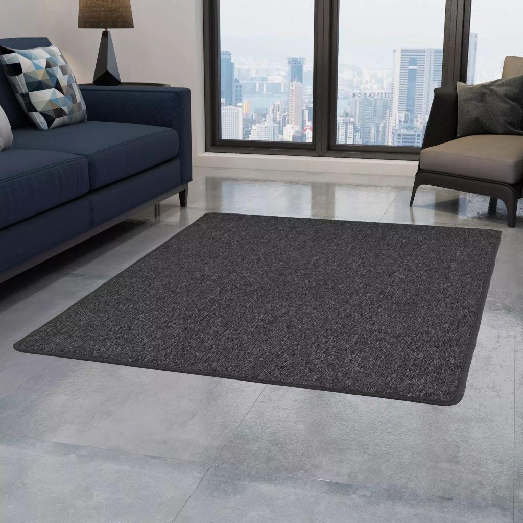 Všívaný koberec - antracitový   80x150 cm