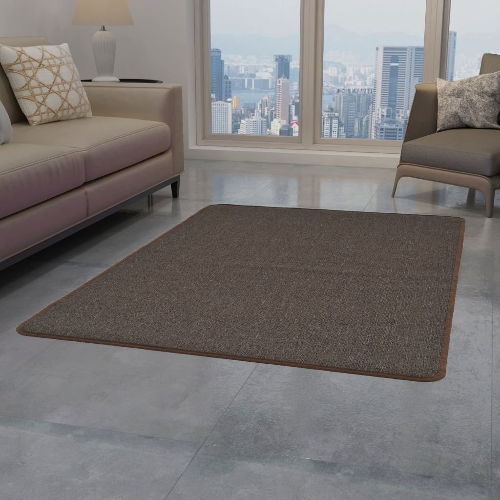 Všívaný koberec - hnědý | 80x150 cm