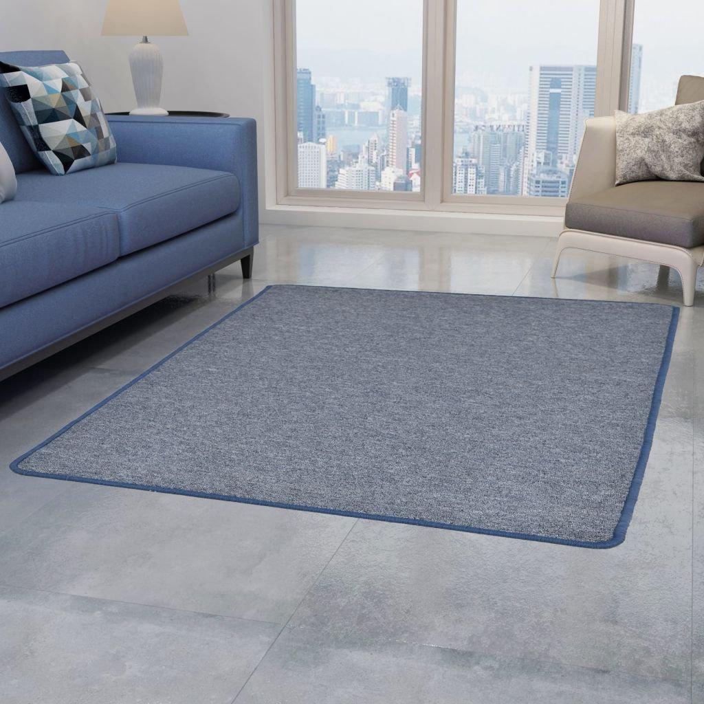 Všívaný koberec - modrý | 80x150 cm