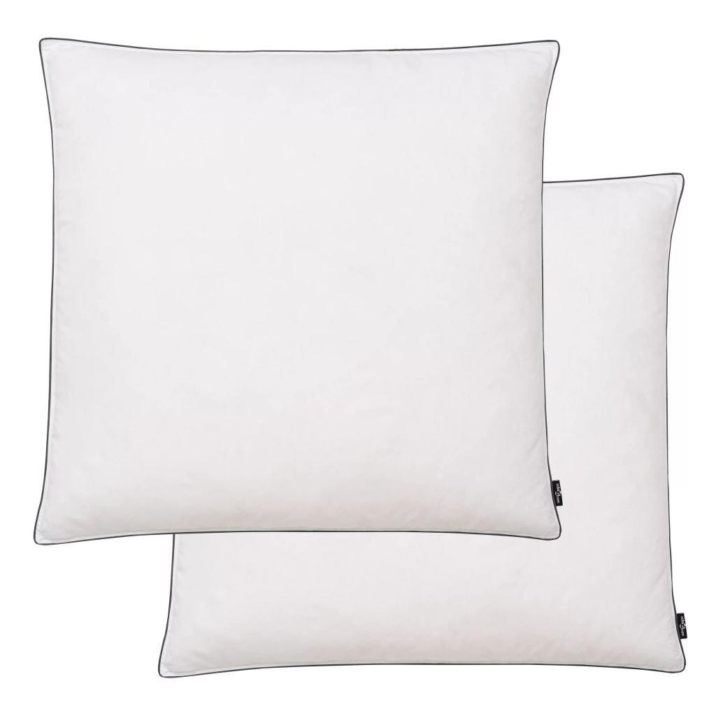 Polštáře 2 ks výplň z prachového peří/peří - těžké - bílé | 80x80 cm