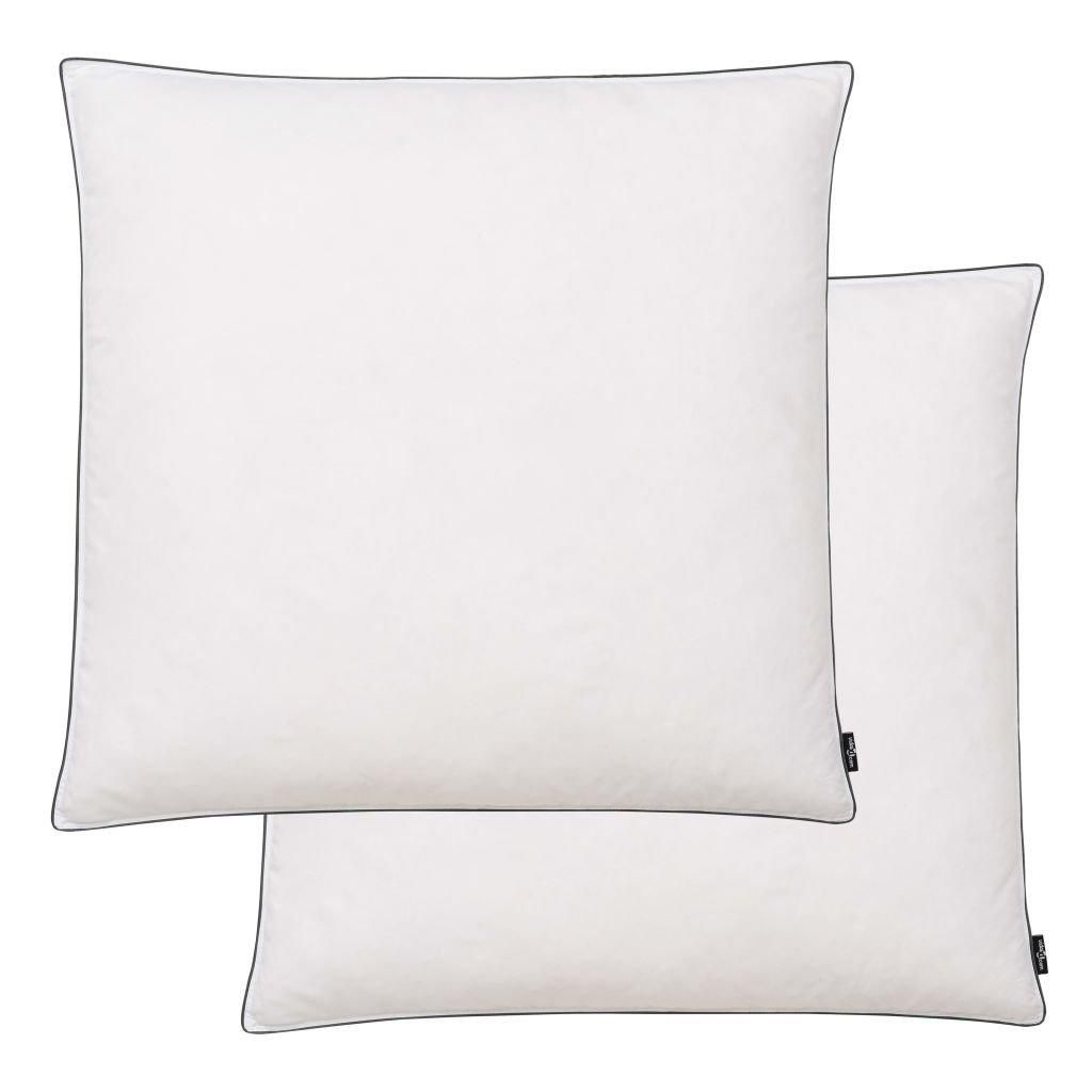 Polštáře 2 ks výplň z prachového peří/peří - lehké - bílé | 80x80 cm