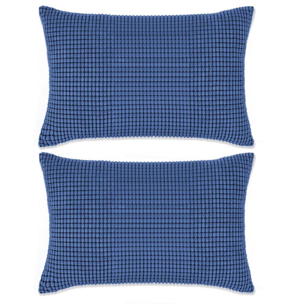 Sada polštářů - 2 ks - velur - modré | 40x60 cm
