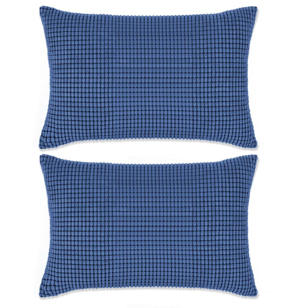 Sada polštářů - 2 ks - velur - modré   40x60 cm