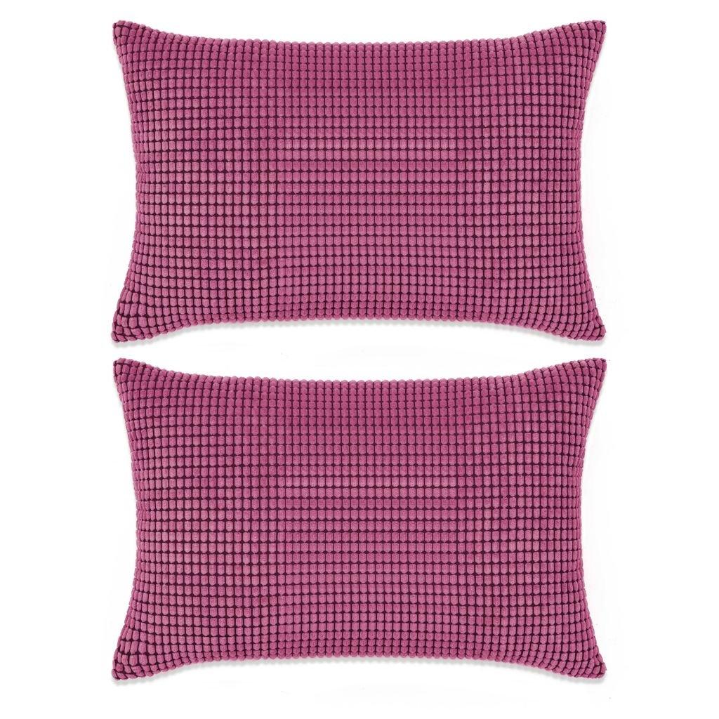 Sada polštářů - 2 ks - velur - růžové   40x60 cm