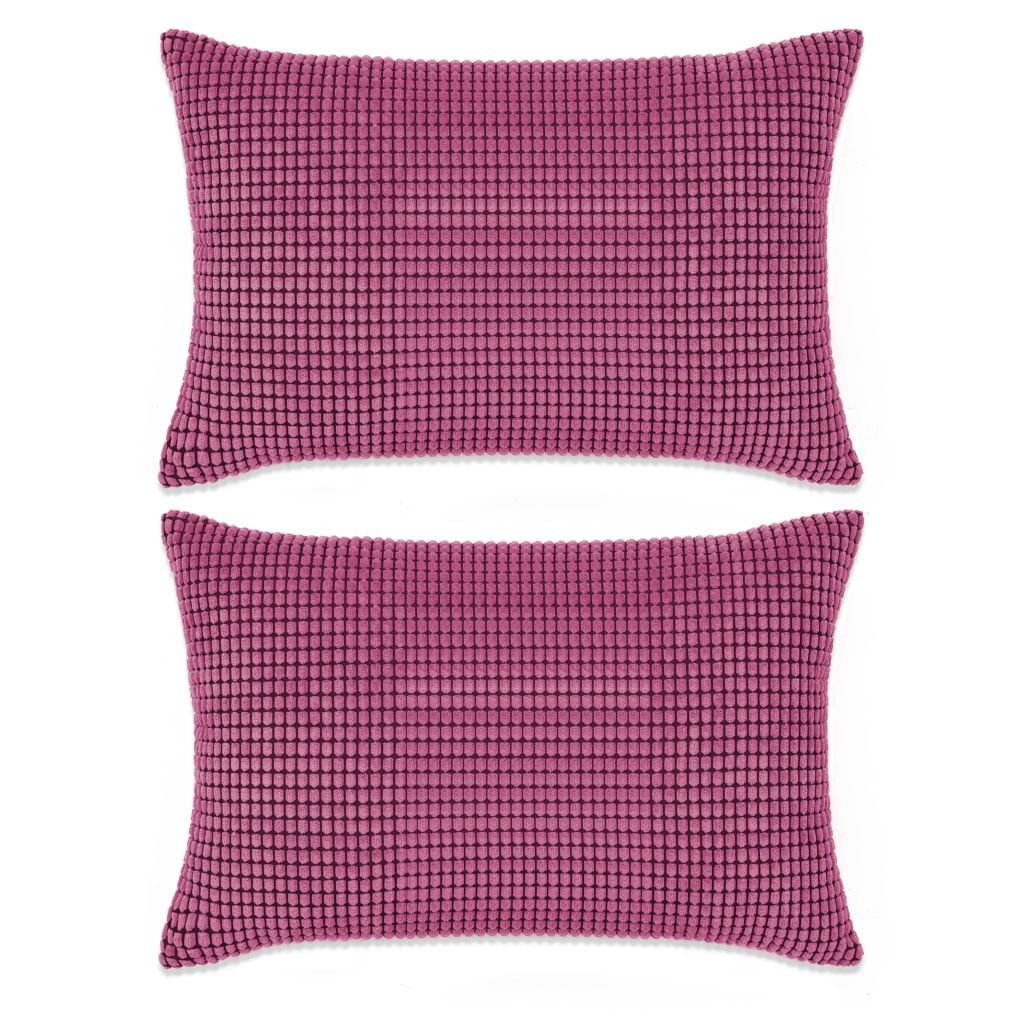 Sada polštářů - 2 ks - velur - růžové | 40x60 cm