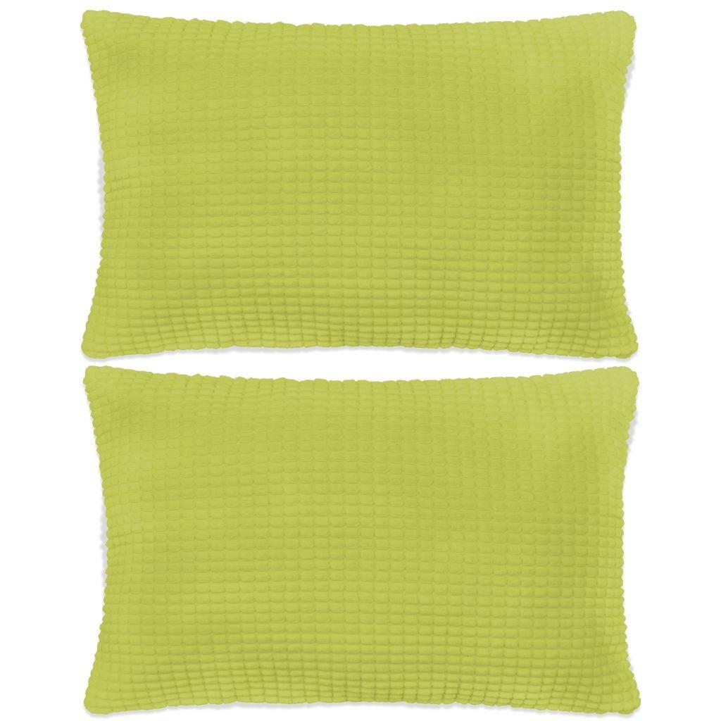 Sada polštářů - 2 ks - velur - zelené   40x60 cm