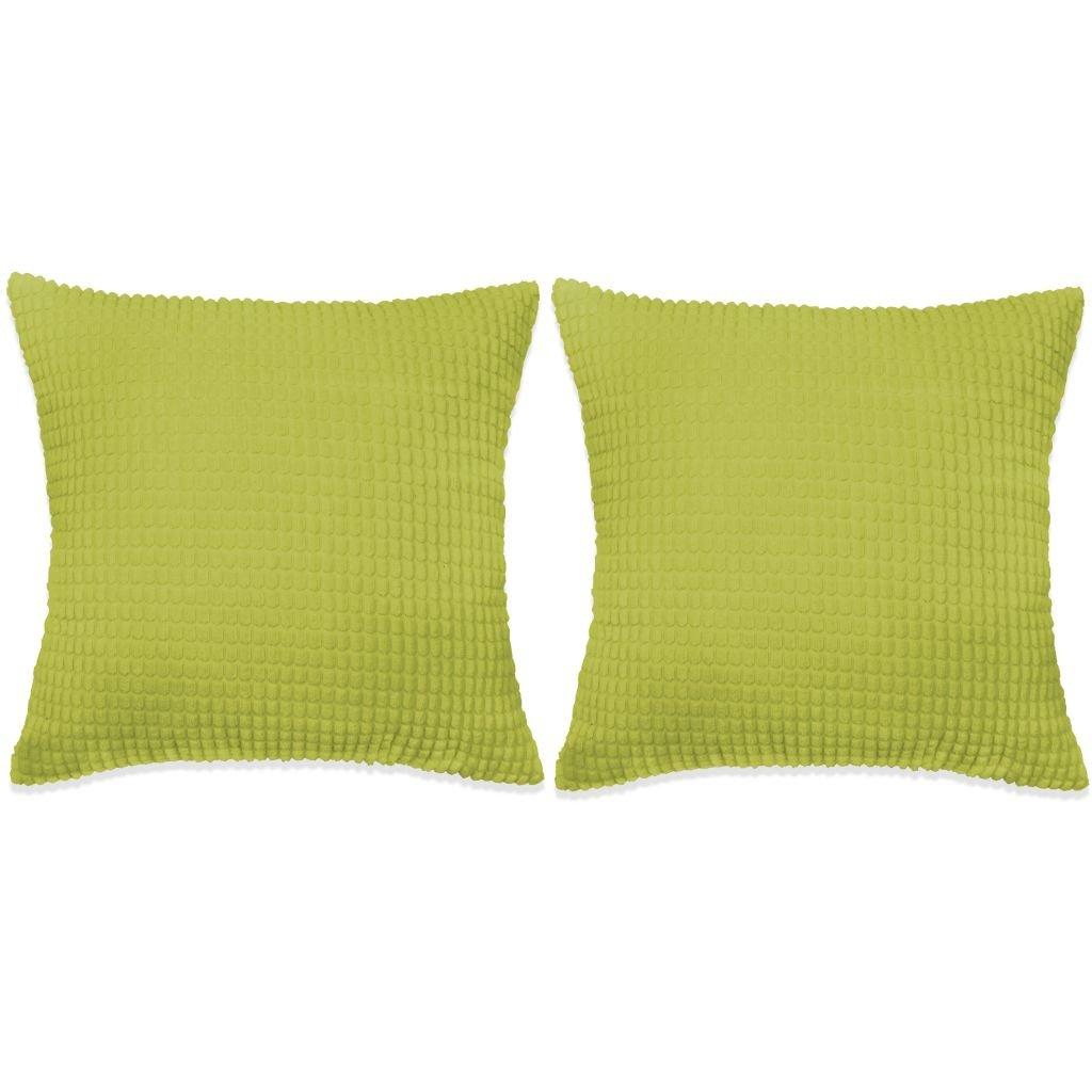 Sada polštářů - 2 ks - velur - zelené | 60x60 cm