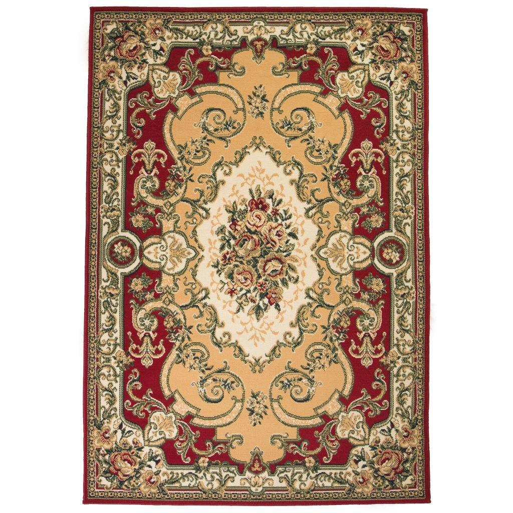 Orientální koberec v perském stylu - červeno-béžový   140x200 cm