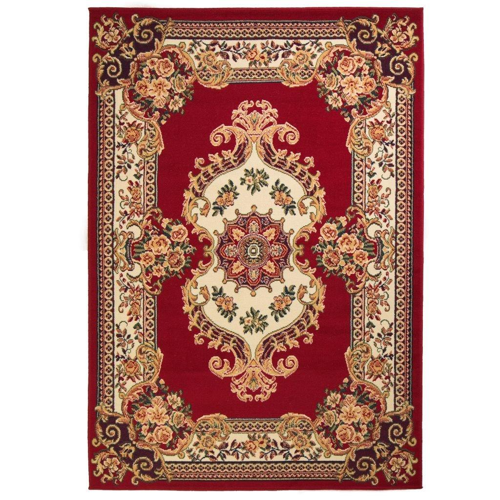 Orientální koberec v perském stylu - červeno-béžový | 80x150 cm