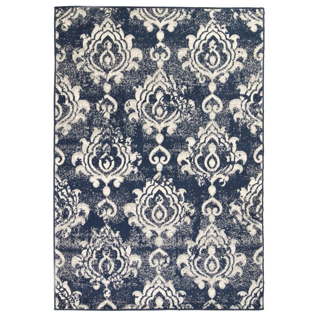 Moderní koberec s kašmírovým vzorem - béžovo-modrý   180x280 cm