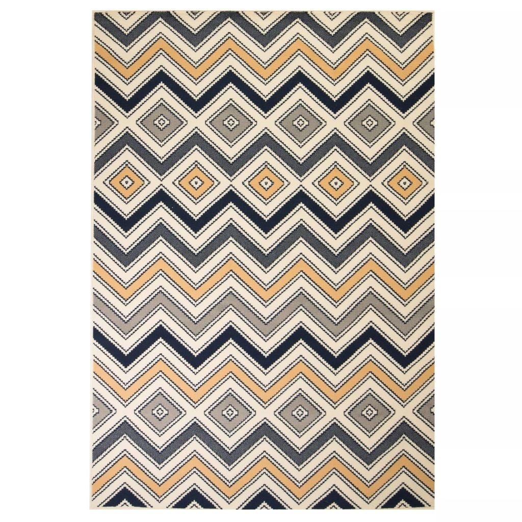Moderní koberec se zigzag vzorem | 80x150 cm