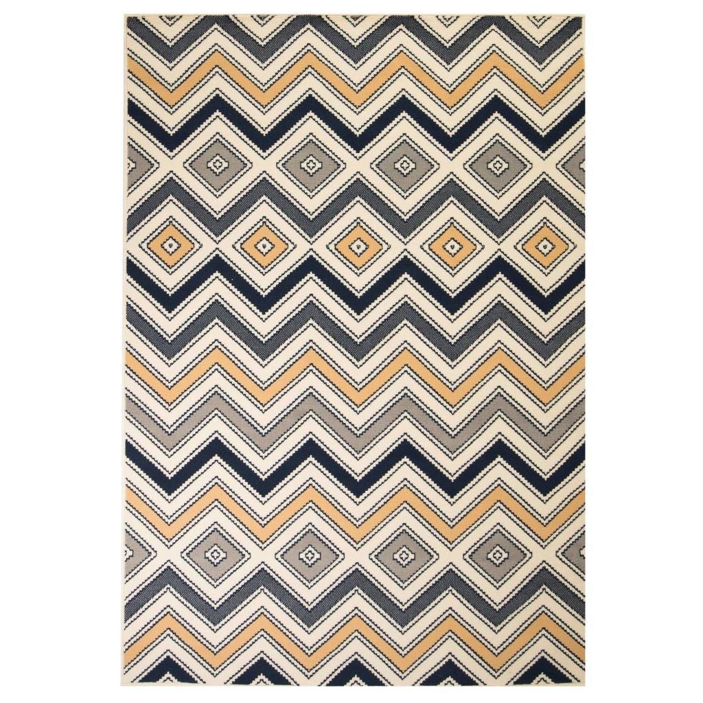 Moderní koberec se zigzag vzorem | 120x170 cm