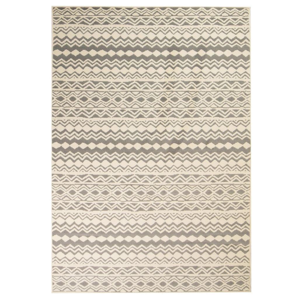 Moderní koberec s tradičním vzorem - béžovo-šedý | 120x170 cm