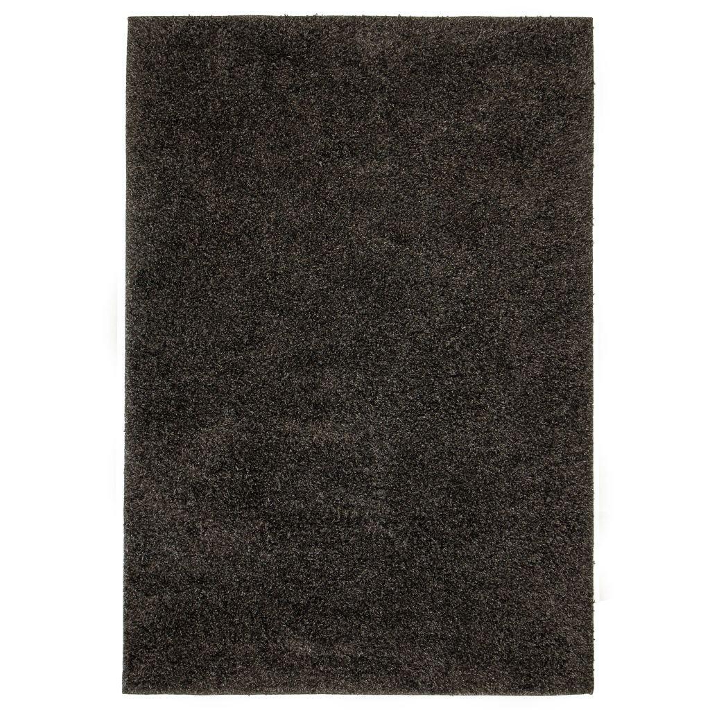 Kusový koberec s vysokým vlasem - antracitový | 140x200 cm