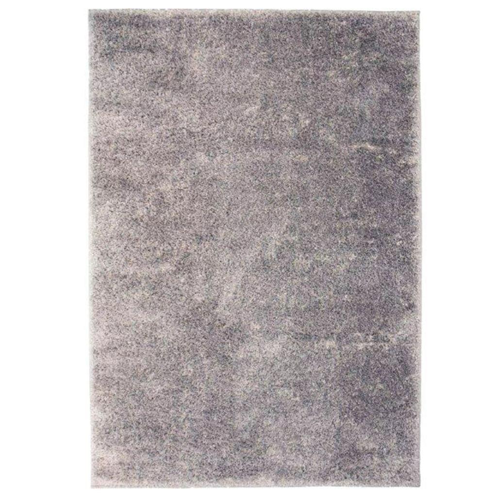 Kusový koberec s vysokým vlasem - šedý | 80x150 cm
