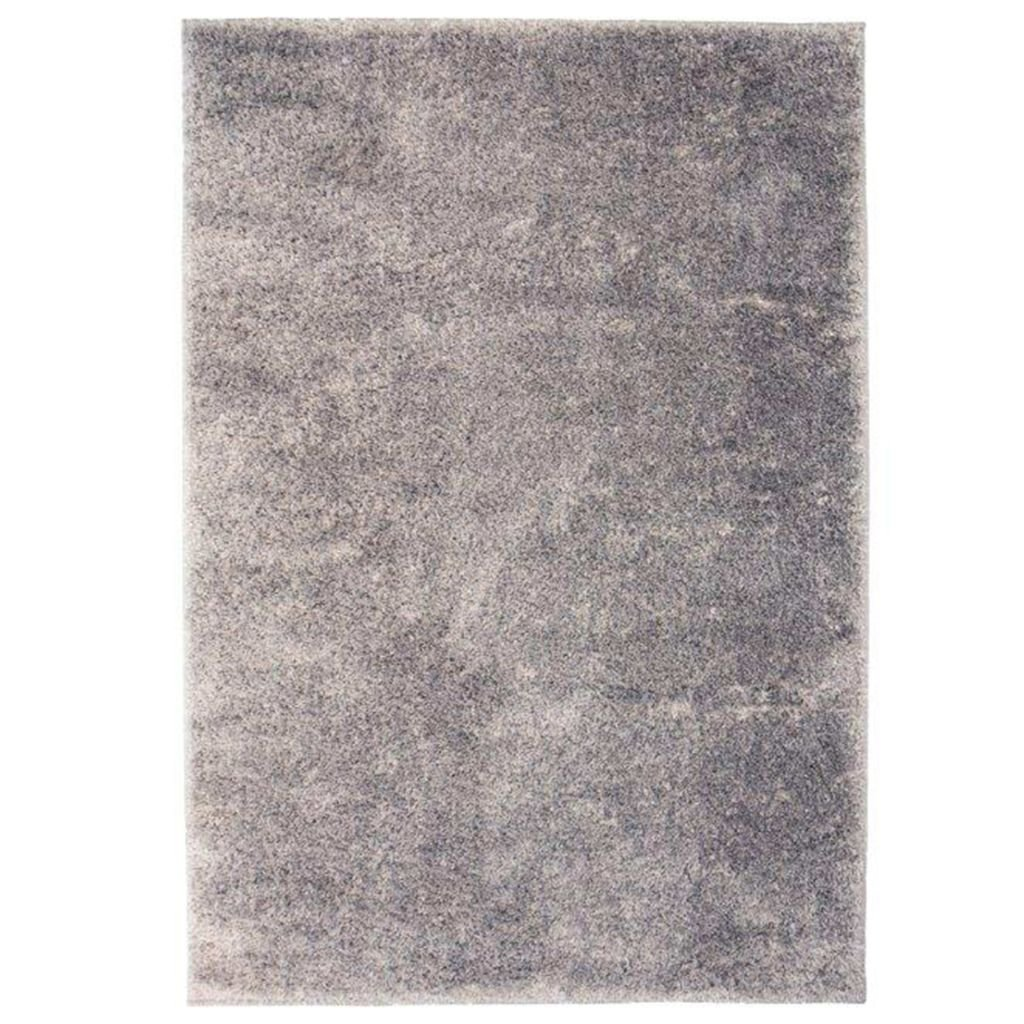 Kusový koberec s vysokým vlasem - šedý | 140x200 cm