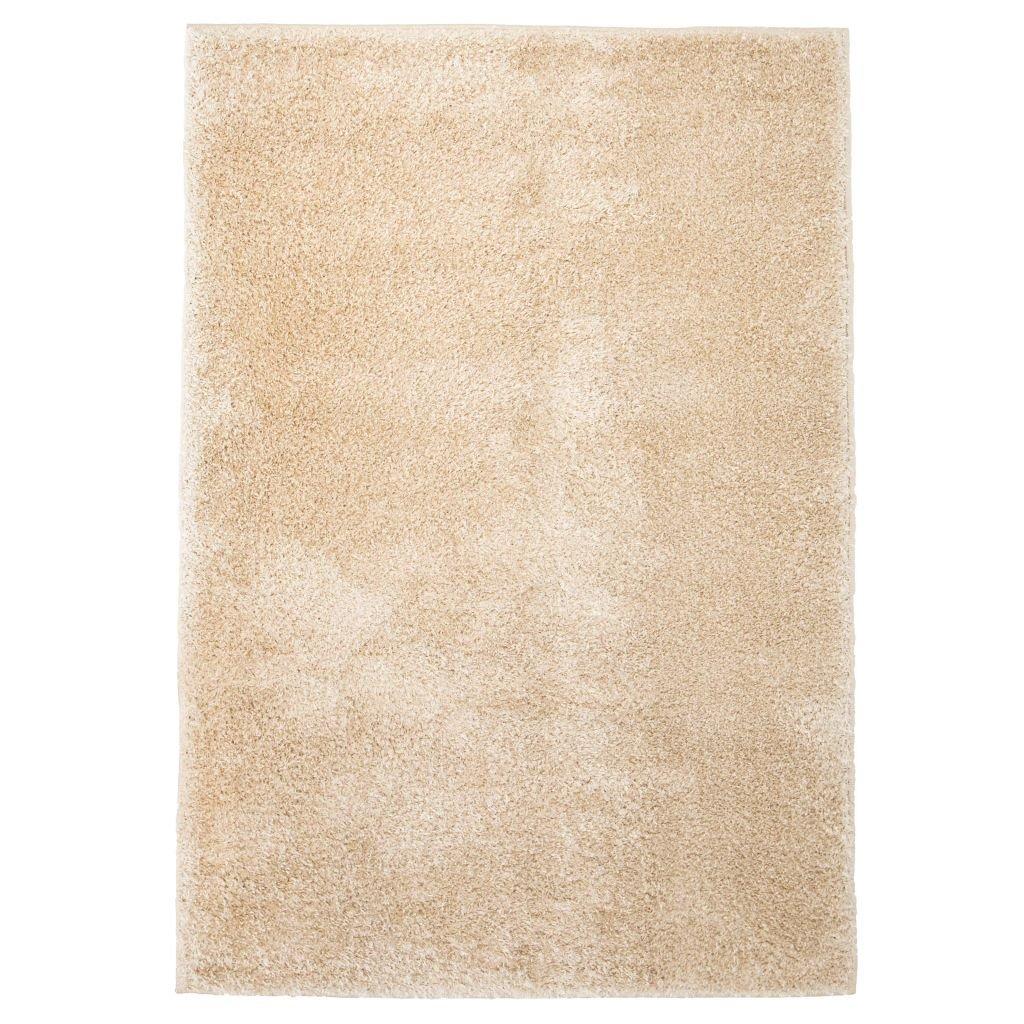 Kusový koberec s vysokým vlasem - béžový | 120x170 cm
