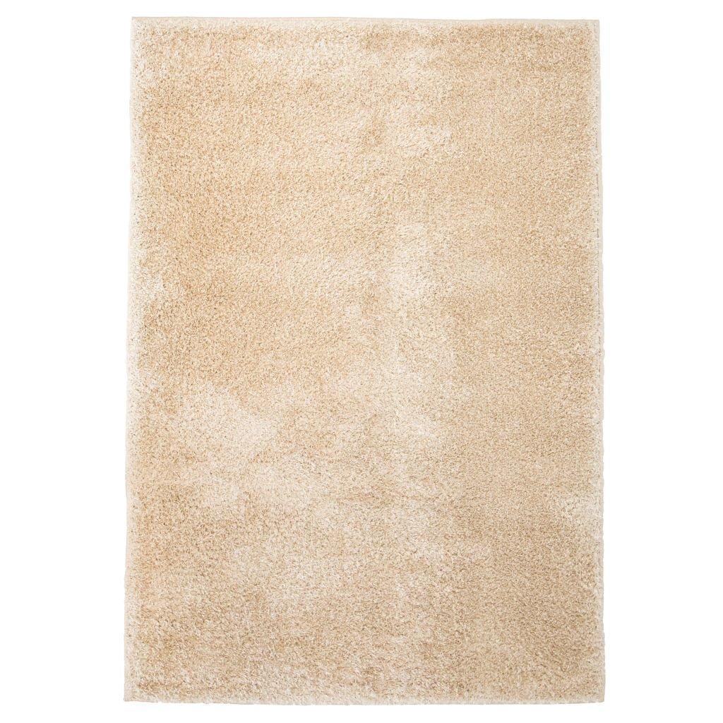 Kusový koberec s vysokým vlasem - béžový | 140x200 cm