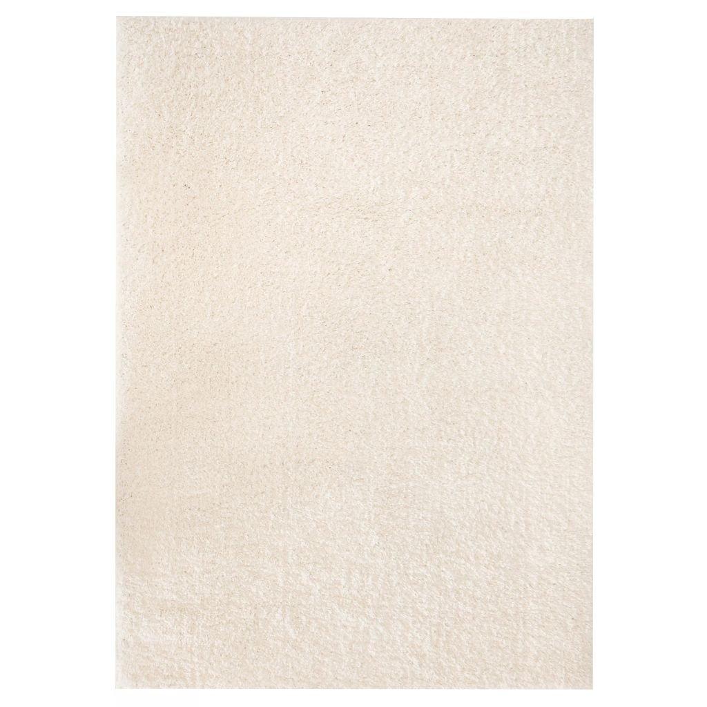 Kusový koberec s vysokým vlasem - krémový | 140x200 cm