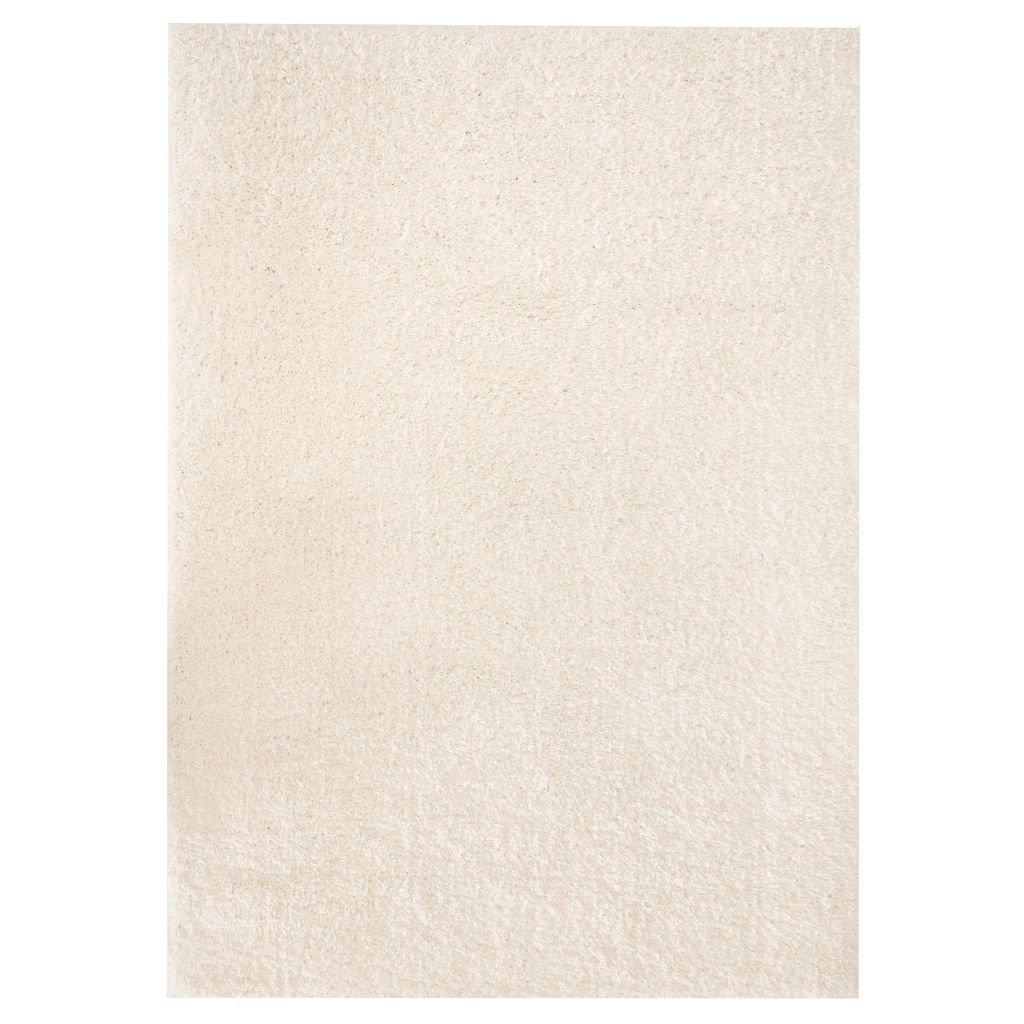 Kusový koberec s vysokým vlasem - krémový | 180x280 cm