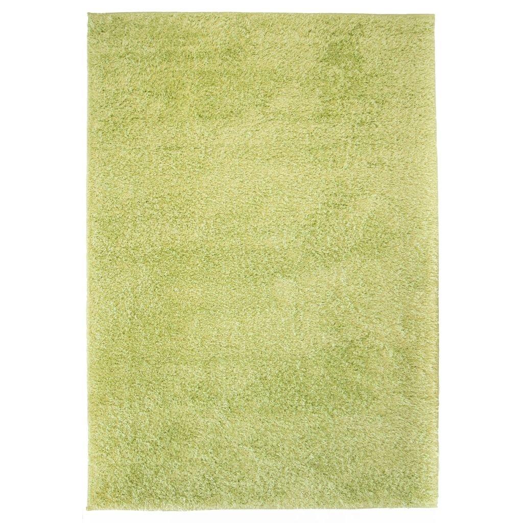 Kusový koberec s vysokým vlasem - zelený   80x150 cm