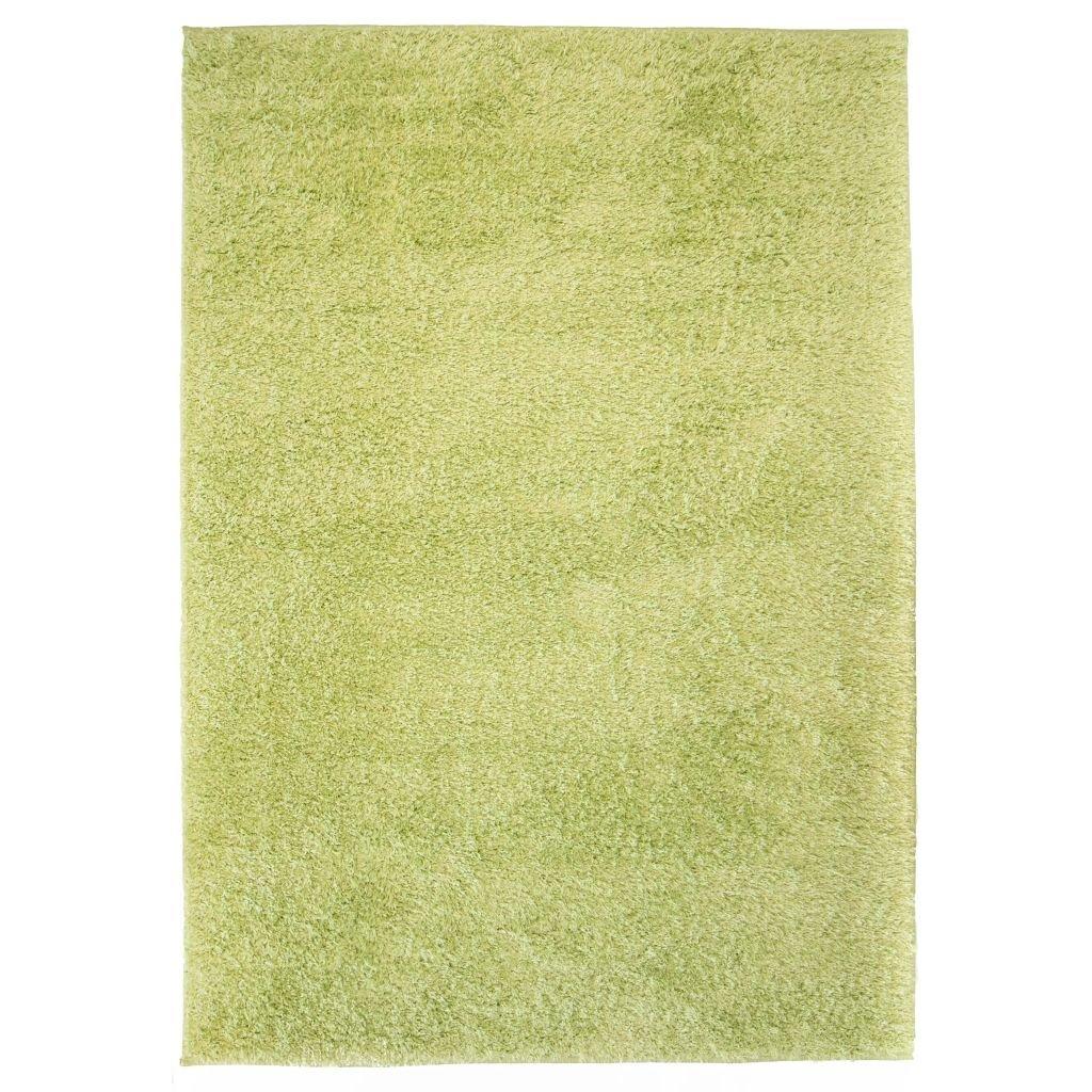 Kusový koberec s vysokým vlasem - zelený | 140x200 cm