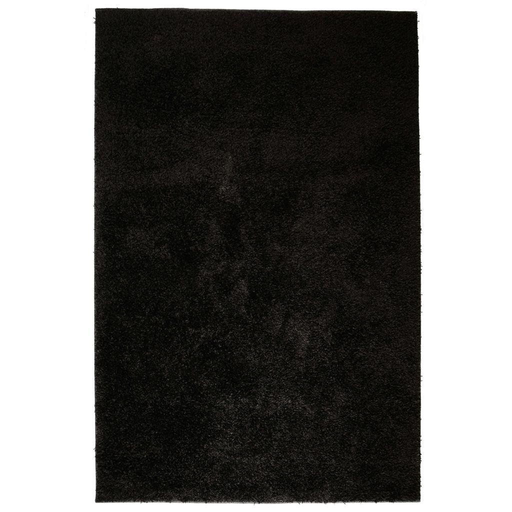 Kusový koberec s vysokým vlasem - černý | 140x200 cm