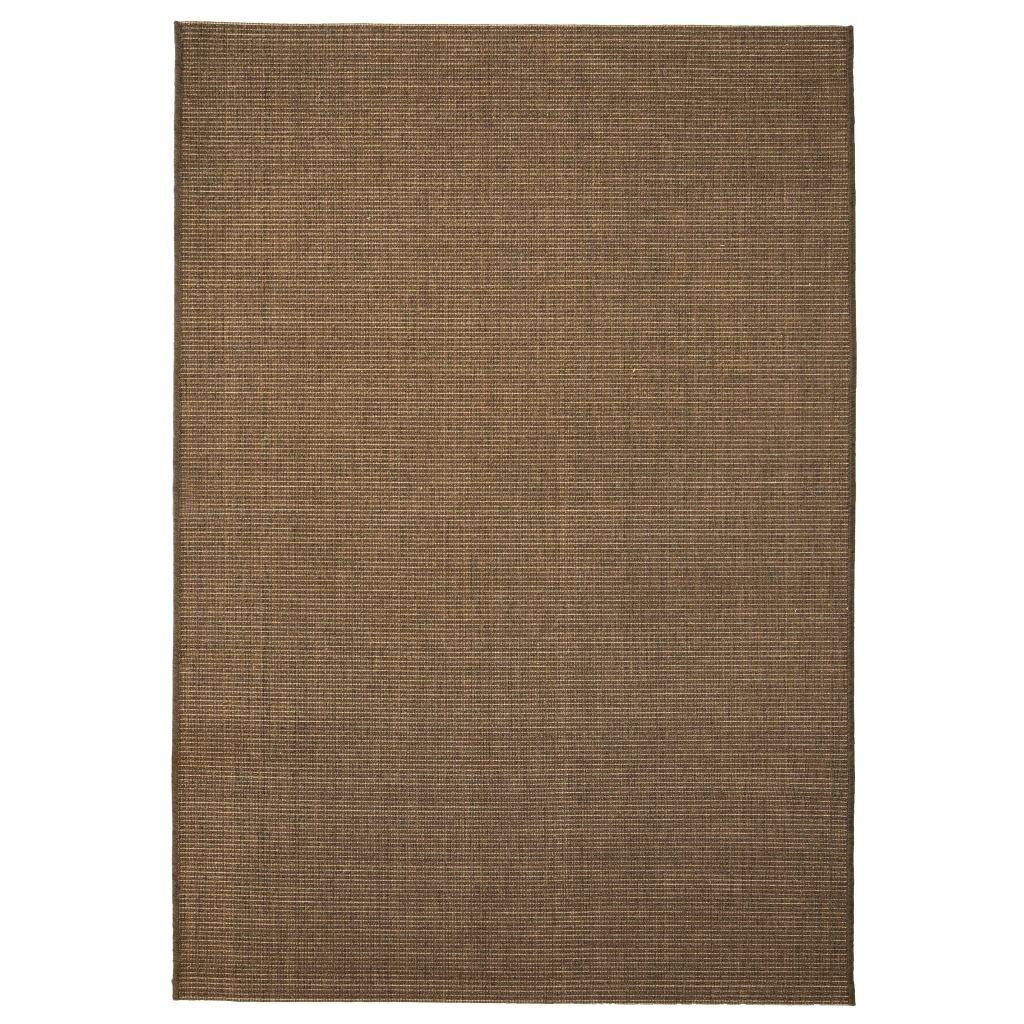 Venkovní/vnitřní kusový koberec - hnědý | 80x150 cm