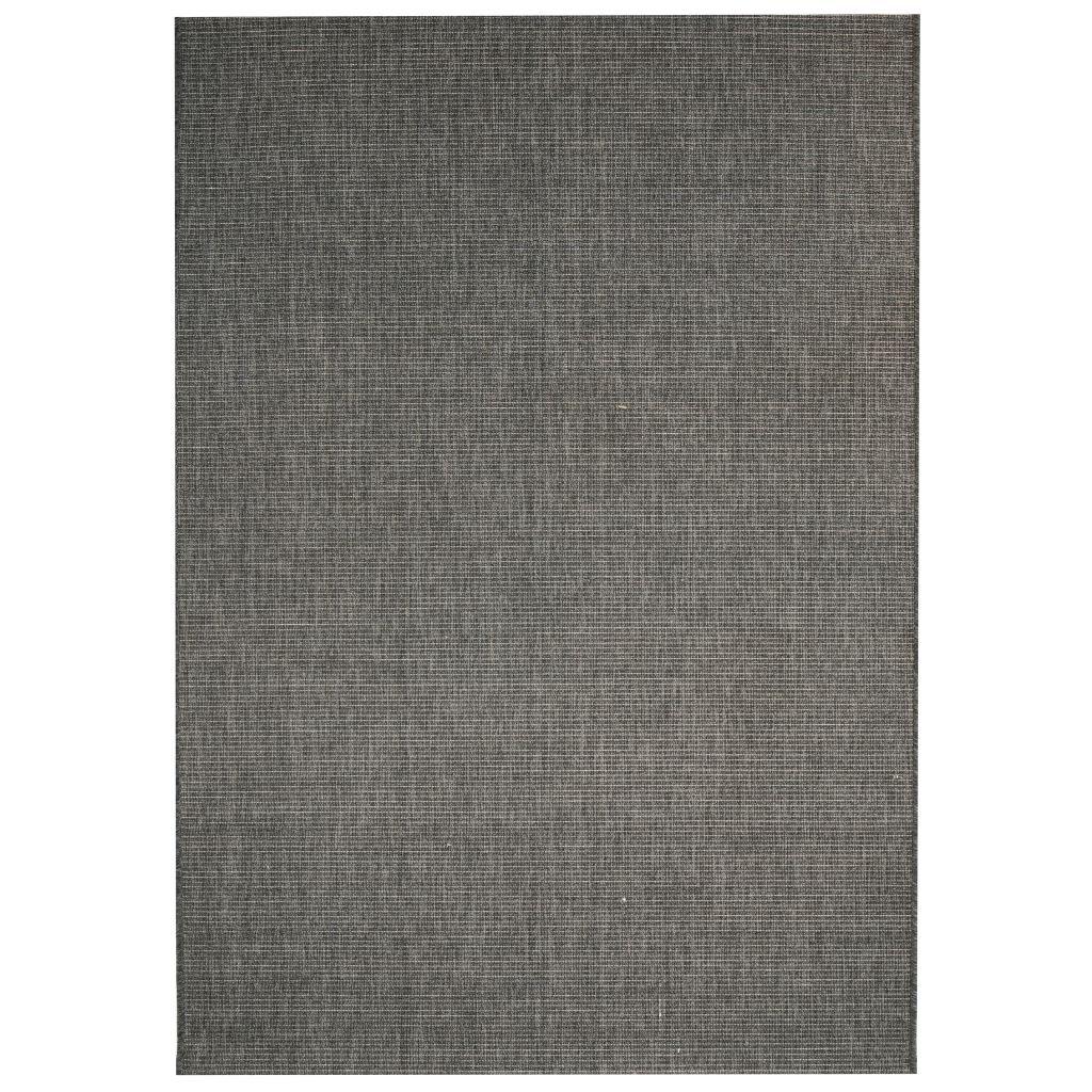 Venkovní/vnitřní kusový koberec - tm. šedý | 80x150 cm