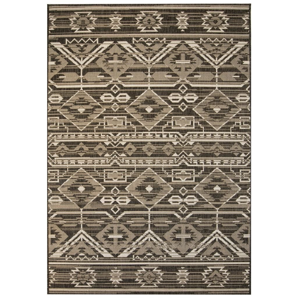Venkovní/vnitřní kusový koberec - geometrický | 80x150 cm