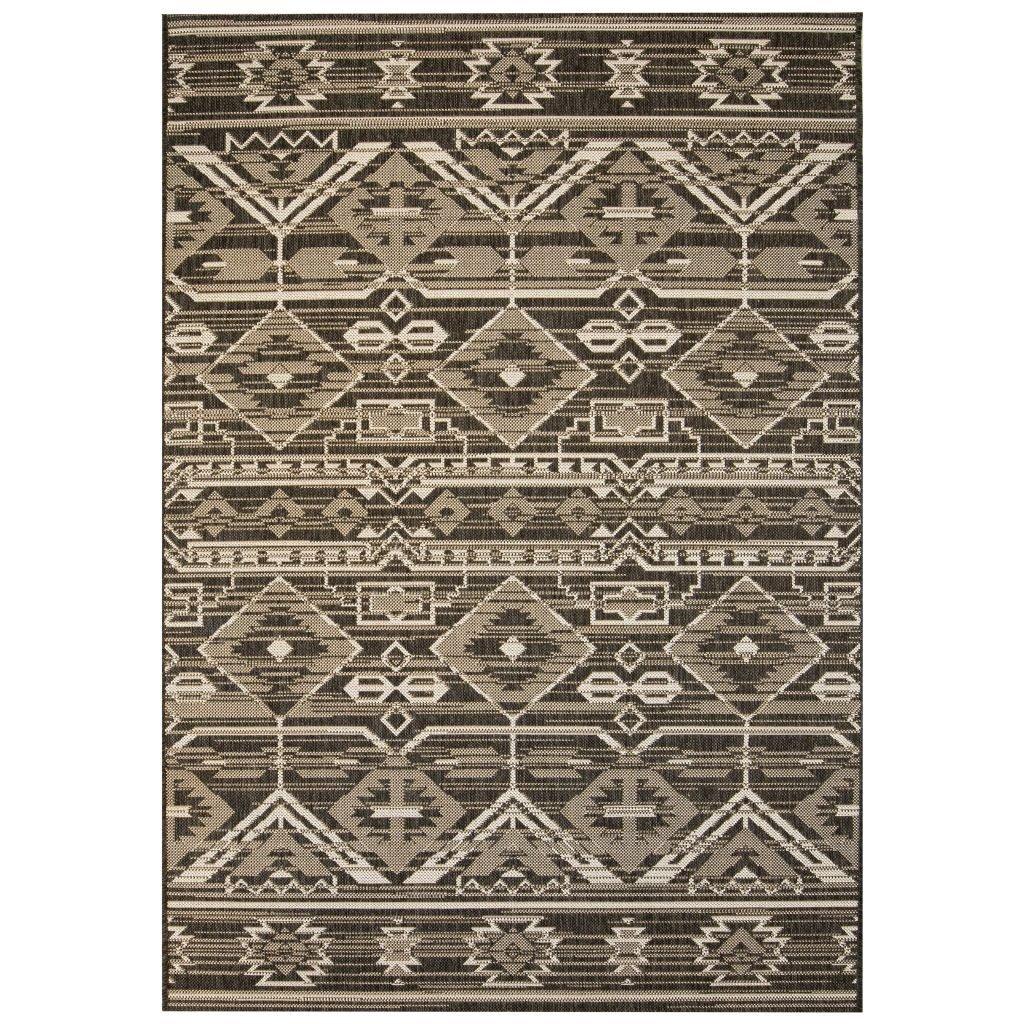 Venkovní/vnitřní kusový koberec - geometrický   140x200 cm