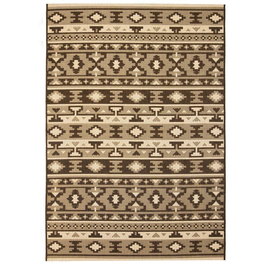 Venkovní/vnitřní kusový koberec - sisal - etnický vzor | 140x200cm