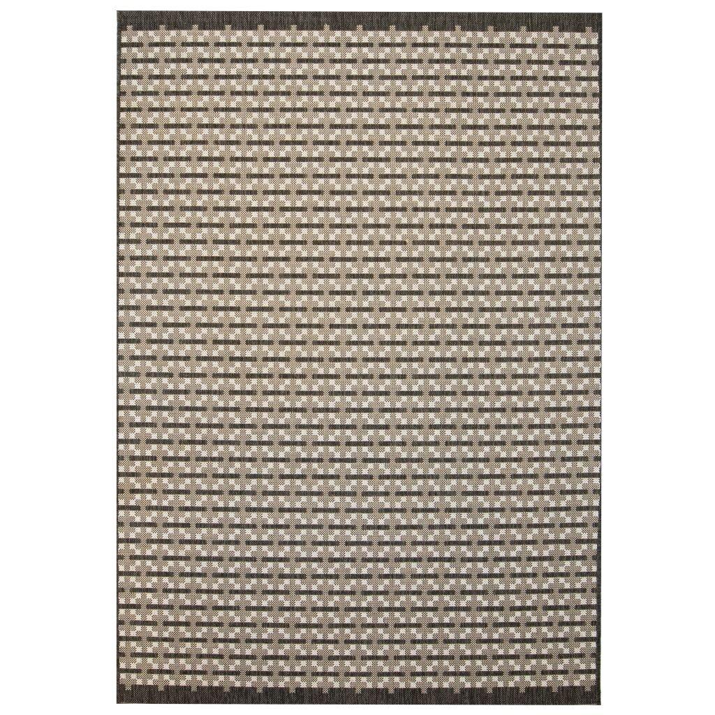 Venkovní/vnitřní kusový koberec - sisal - vzor kostka | 140x200cm