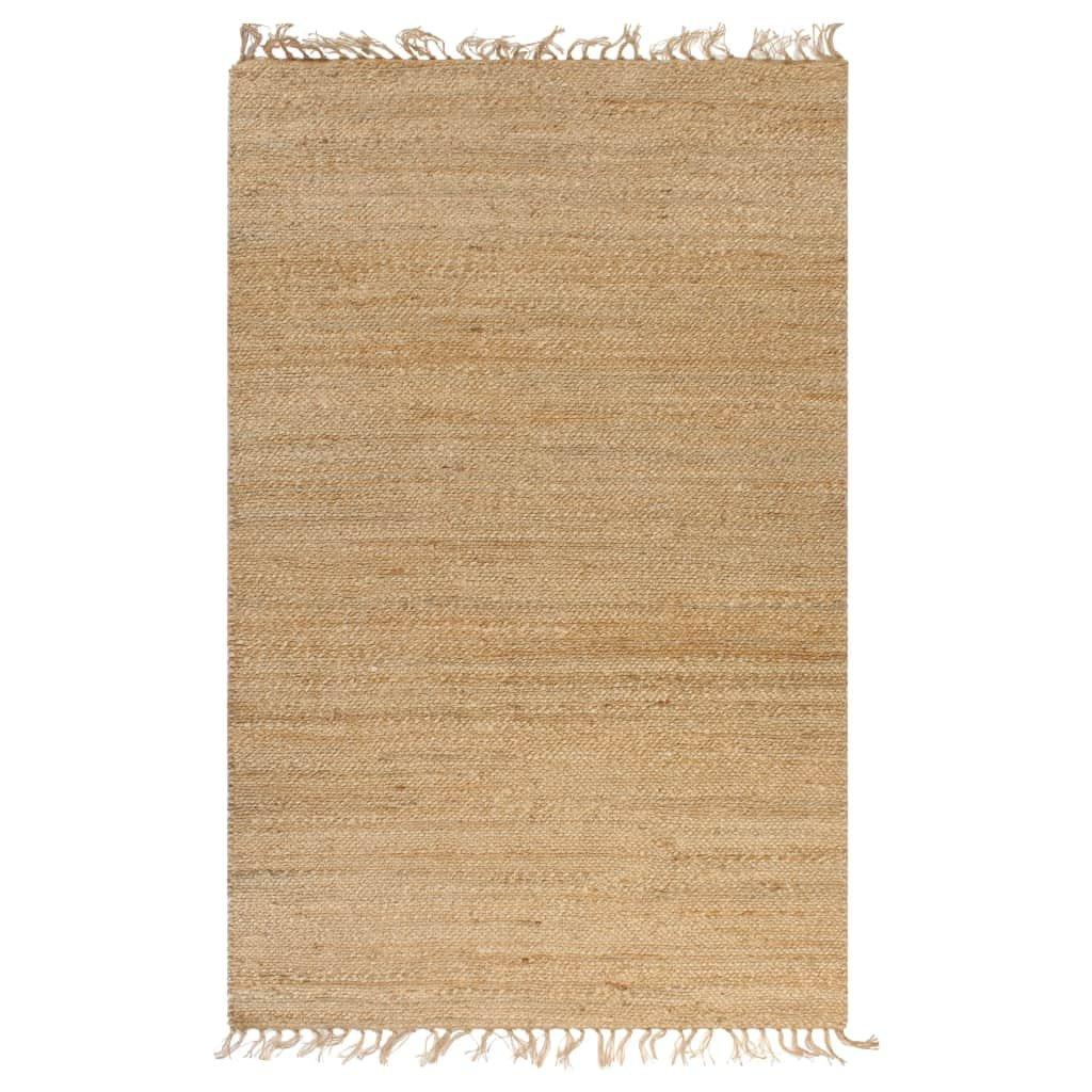 Ručně tkaný kusový koberec z juty - přirodní | 160x230 cm