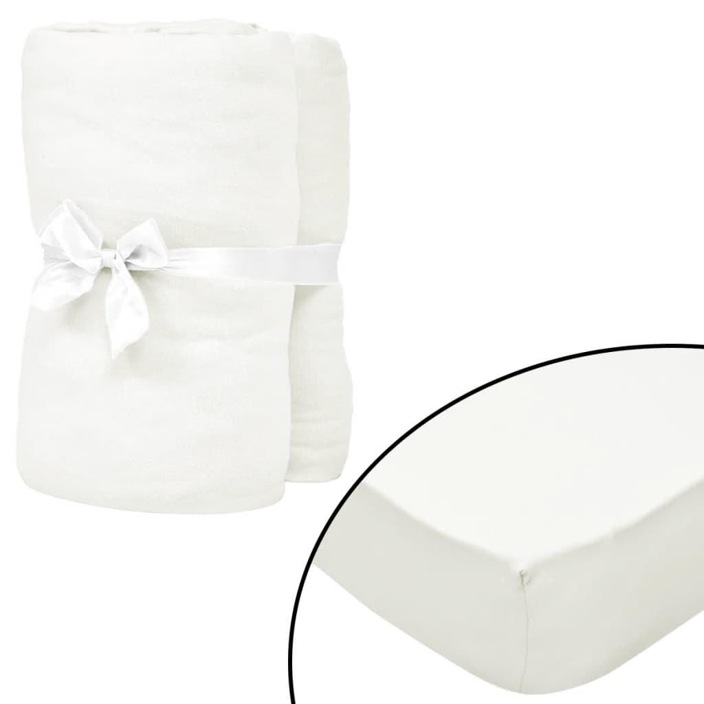 Napínací prostěradla na vodní postele - 2ks - našedlá | 1,8x2m