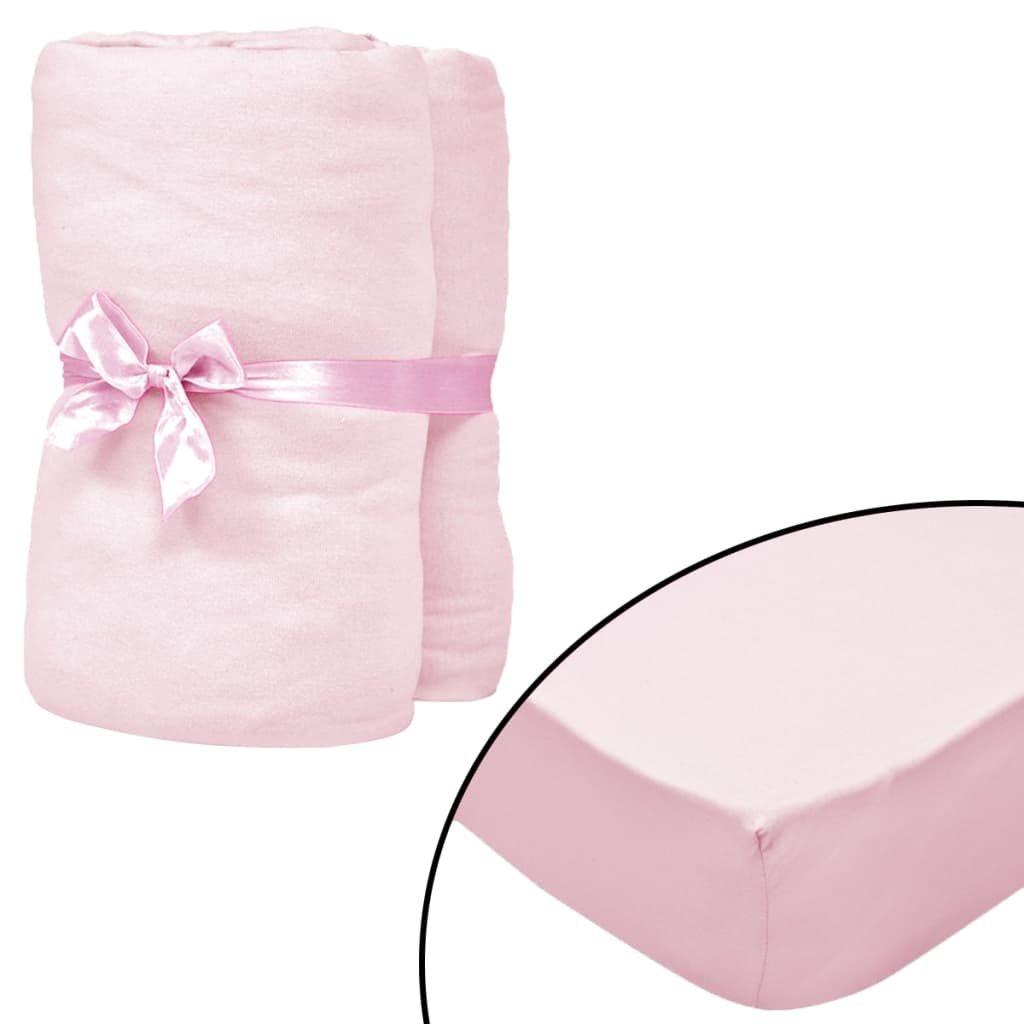 Napínací prostěradla do kolébky - 4 ks - růžová | 40x80 cm