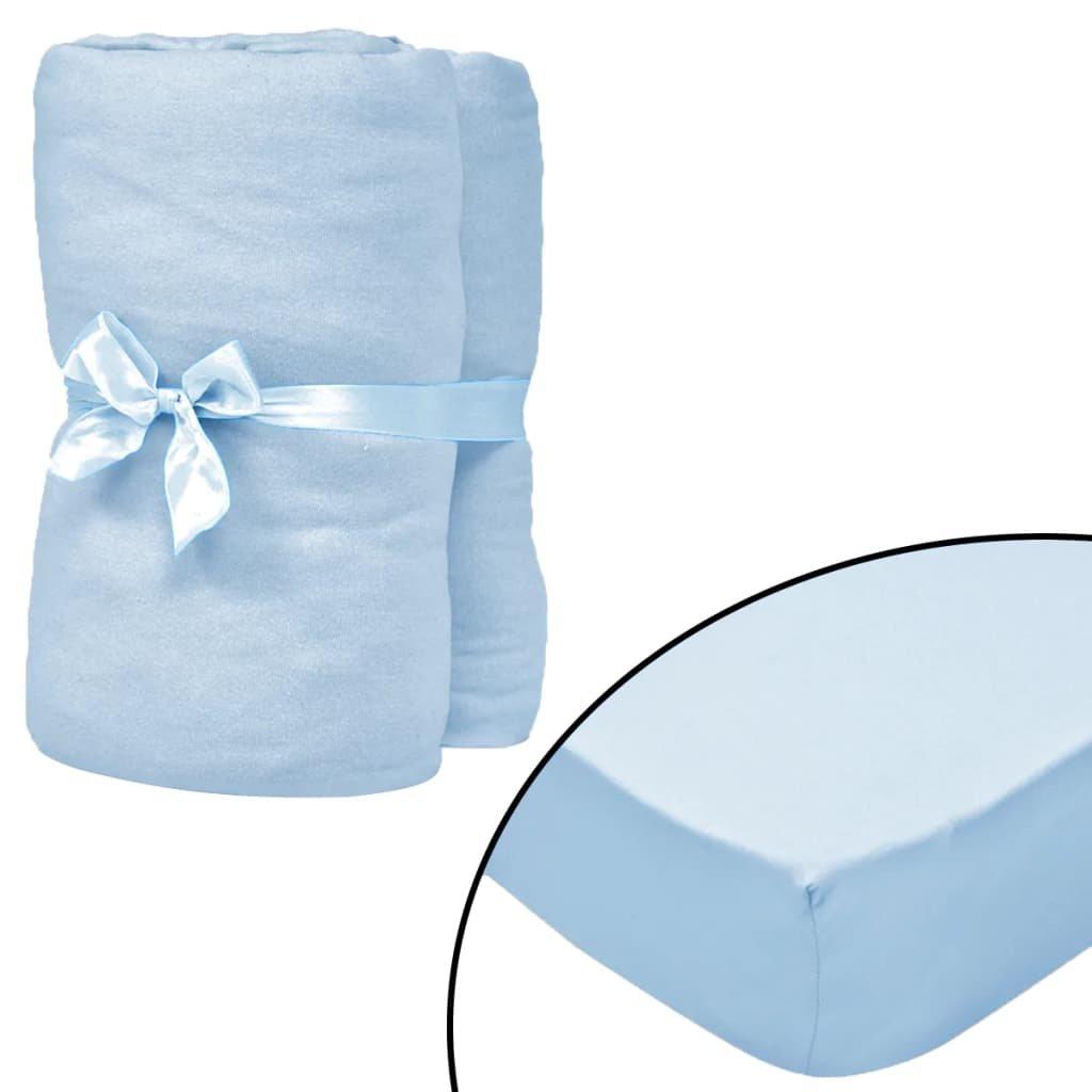 Napínací prostěradla do kolébky - 4 ks - modrá | 60x120 cm