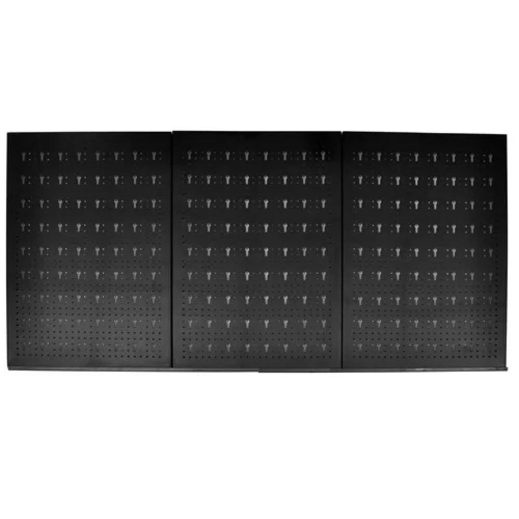 Nástěnný panel na nářadí - děrovaný s 18 háčky | 60x120 cm