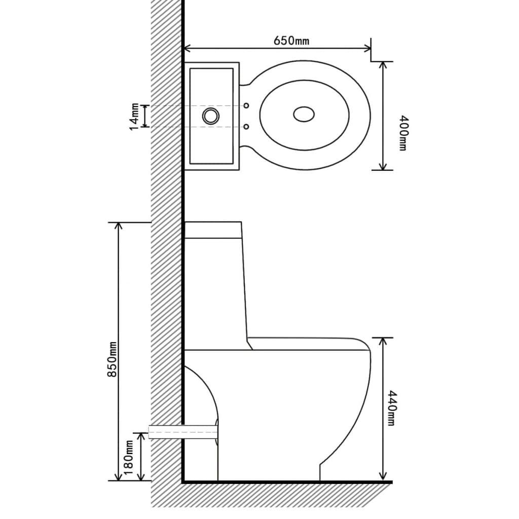 Čtvercová keramická toaleta   černá