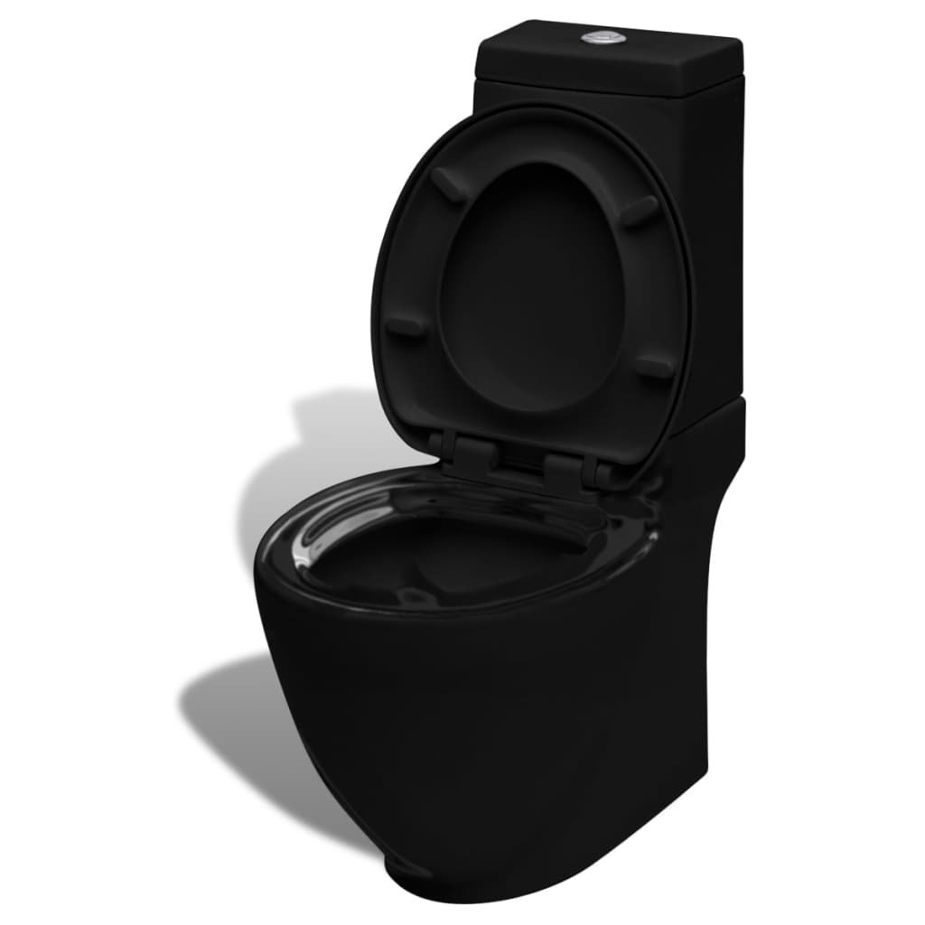 Čtvercová keramická toaleta | černá