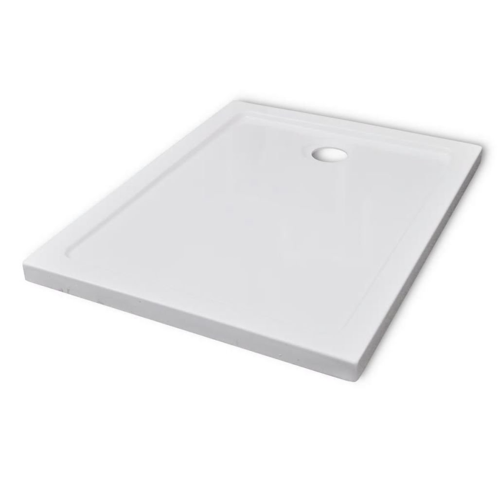 Obdélníková ABS sprchová vanička - bílá | 70x90 cm