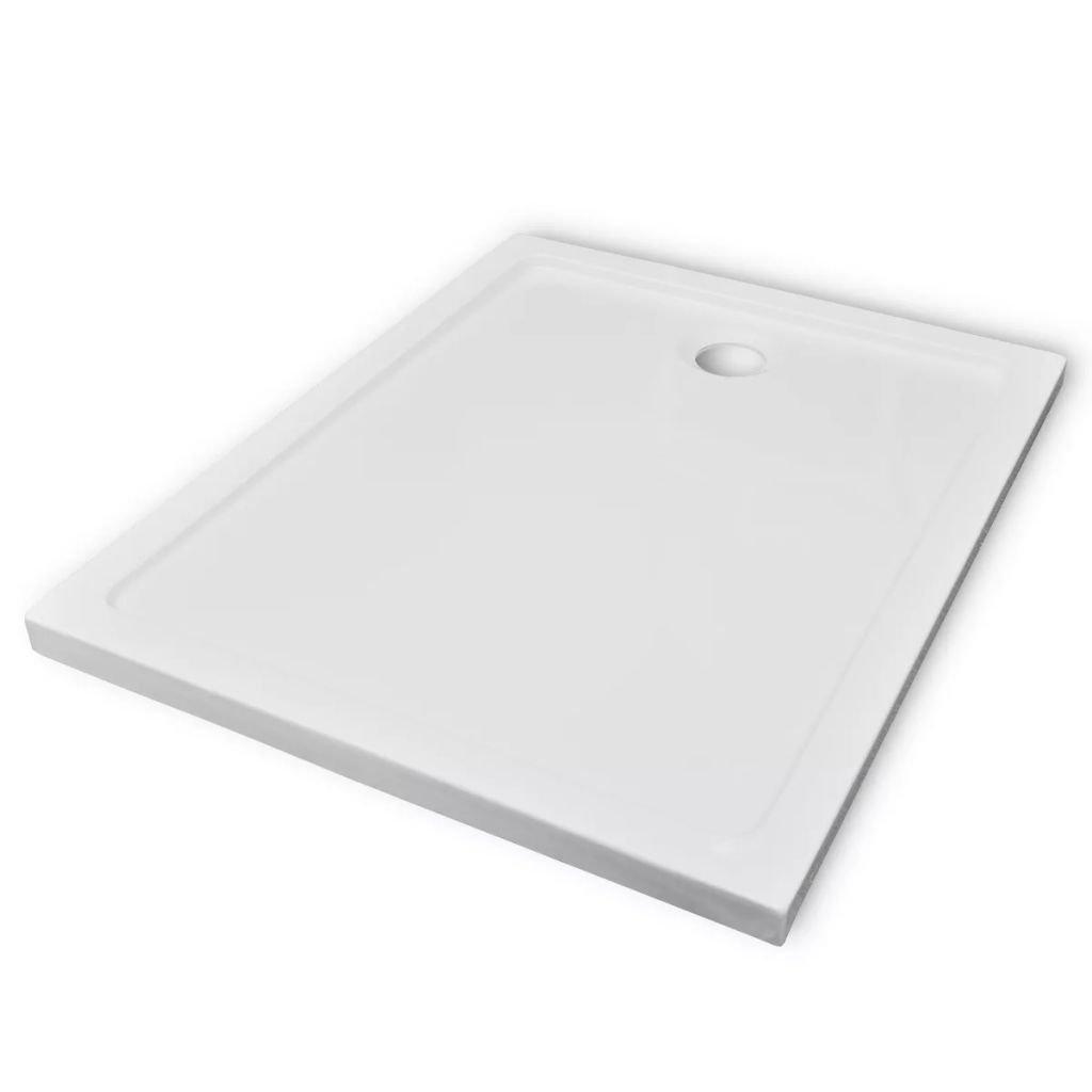 Obdélníková ABS sprchová vanička - bílá | 80x100 cm
