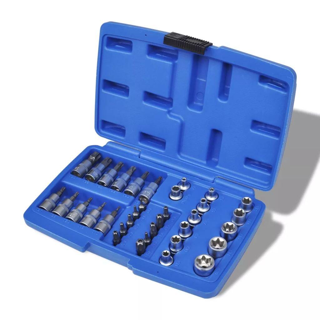 Gola sada torx nástrčné a zástrčné klíče 34 ks s pouzdrem pro uložení