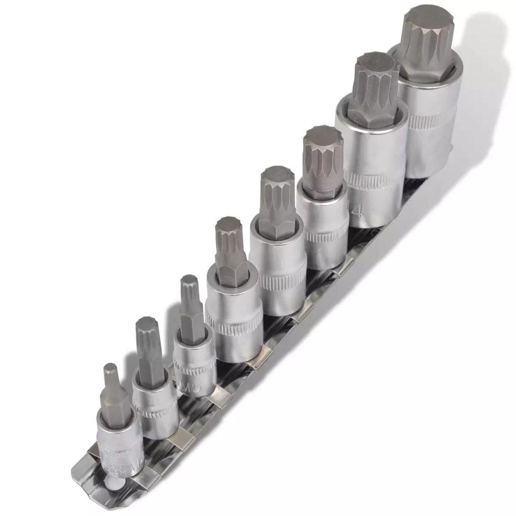12zubé bity sada vícezubých bitů 8 ks na držáku