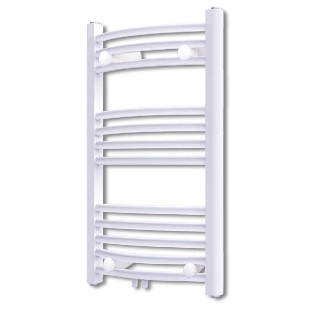 Žebříkový radiátor na ručníky - obloukový - ústřední topení - bílý | 500x764 mm