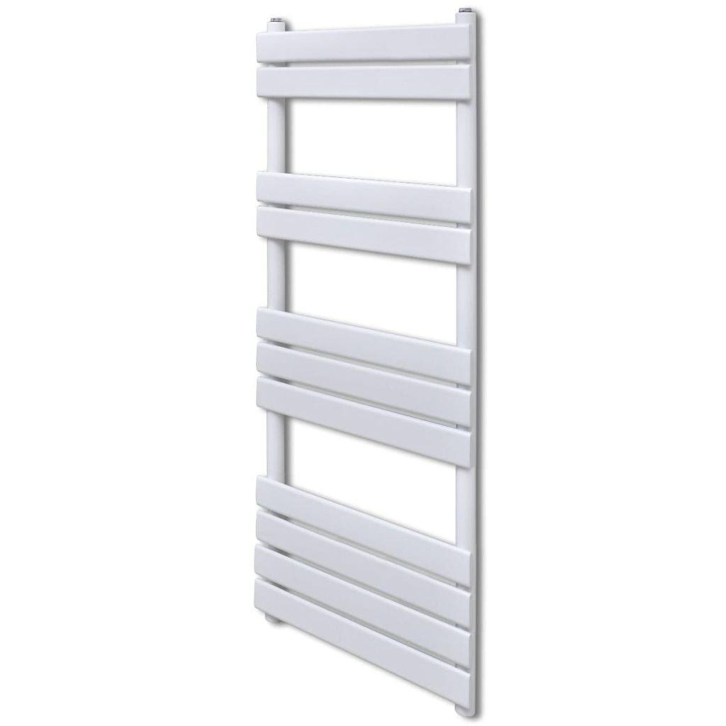 Žebříkový radiátor na ručníky - rovný - ústřední topení - bílý | 600x1200 mm